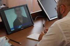Состоялся очередной прием осужденных в режиме видеоконференцсвязи